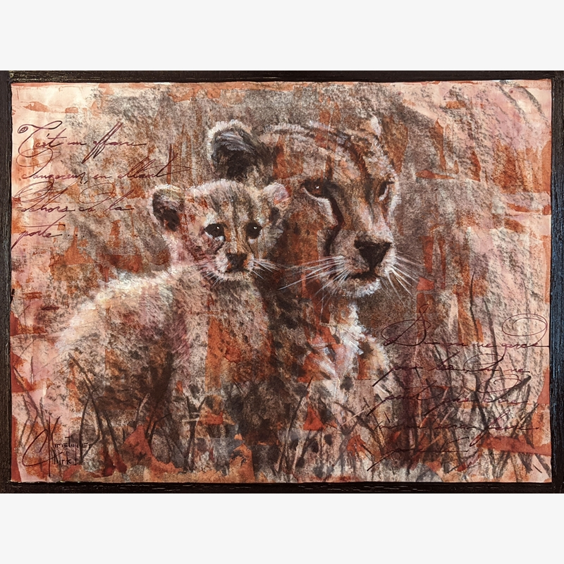 Sepia Cats, Cheetahs by Christopher Clark