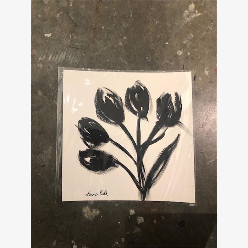 Black & White Tulips I, 2018