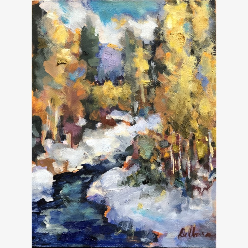 Stream with Aspens, 2018