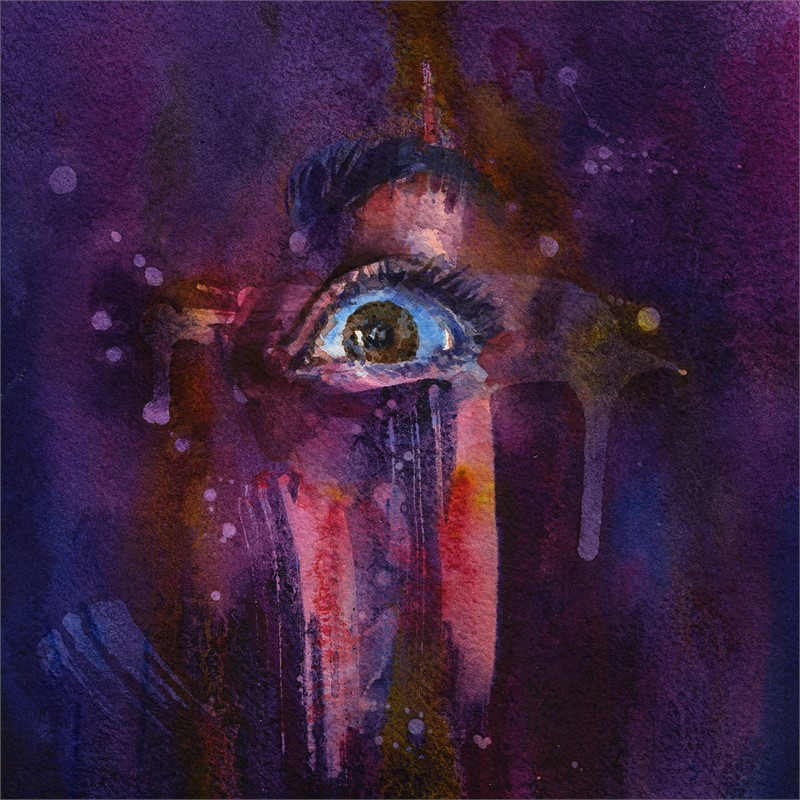 Piercing the Veil - Purple by Joanna Barnum