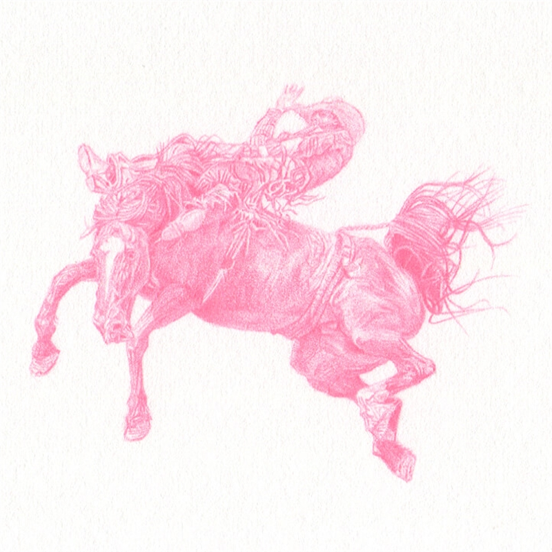 Untitled (Bronc Rider AOP-3754), 2020