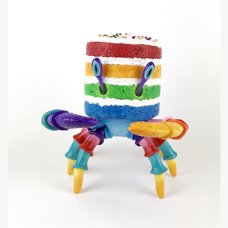 Lil' Rainbow Crabcake by Corina St. Martin