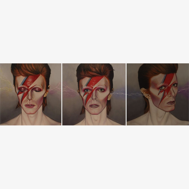 Bowie Triptych by Christian Charriere