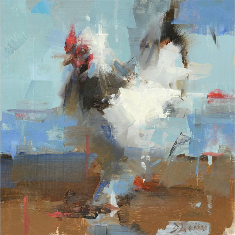 Chicken Study with Blue, 2017