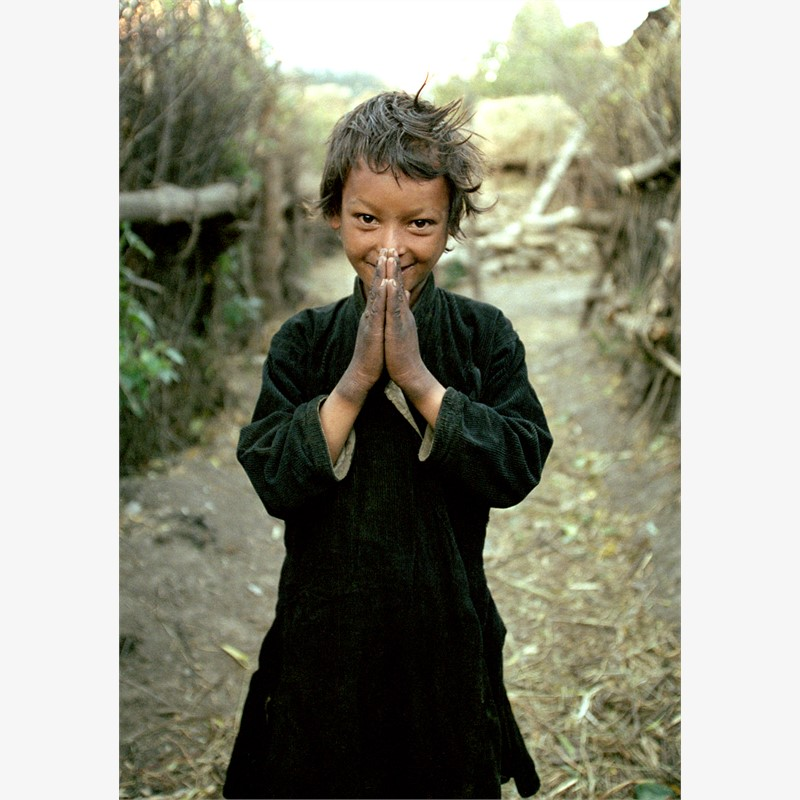 Namaste, Simikot, Humla region, Nepal