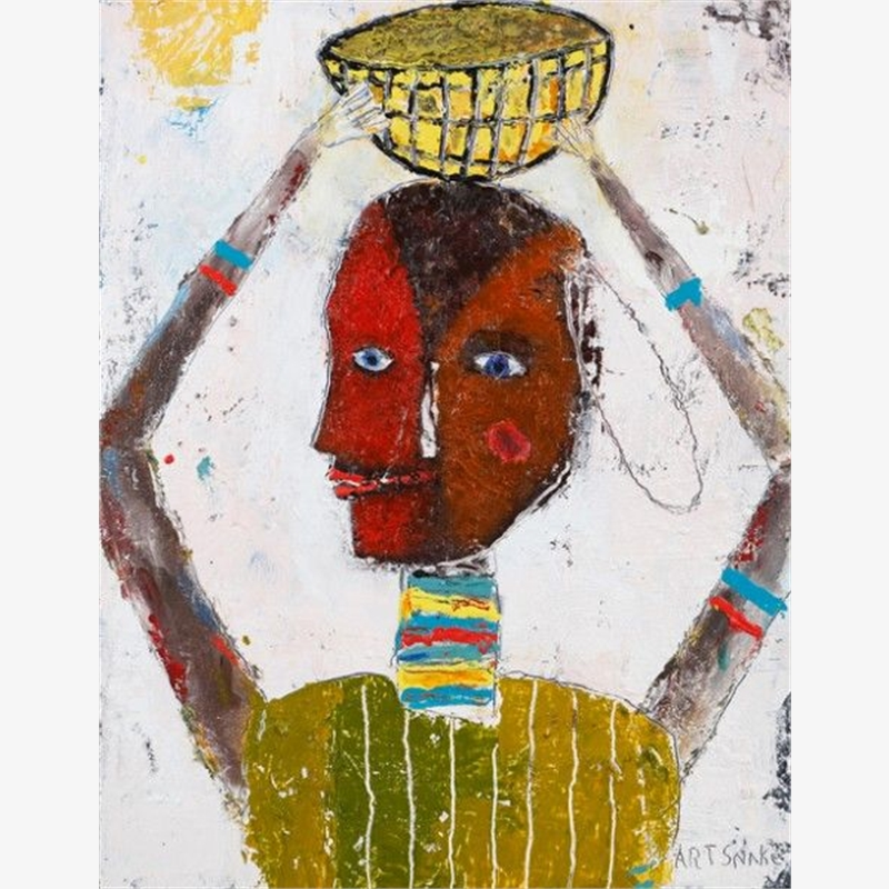 Woman With Yellow Basket, 2019