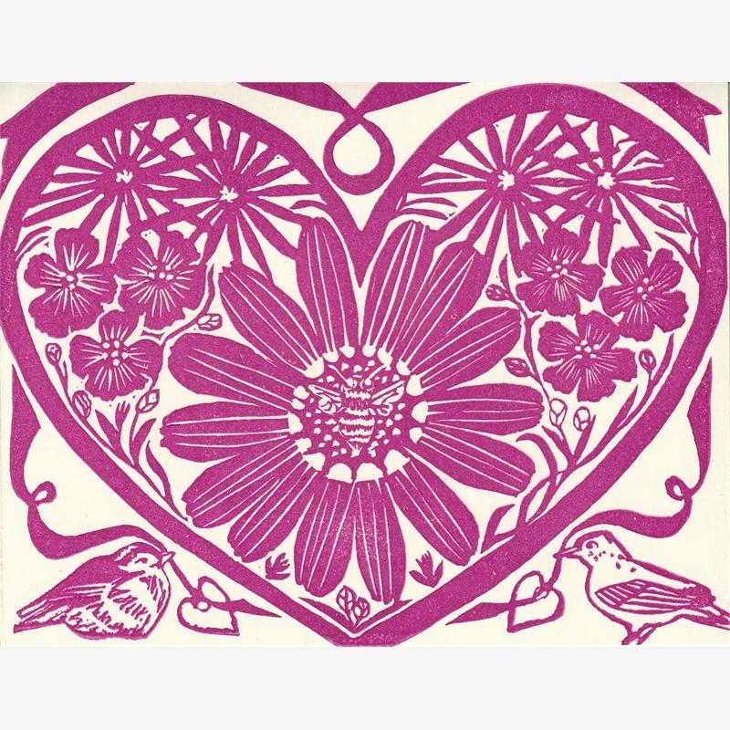 Flower Heart Card, 2019