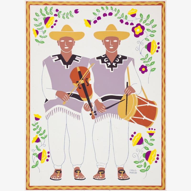 Músicos De Atotonilco. Estado De Guanajuato. (Framed), 1945