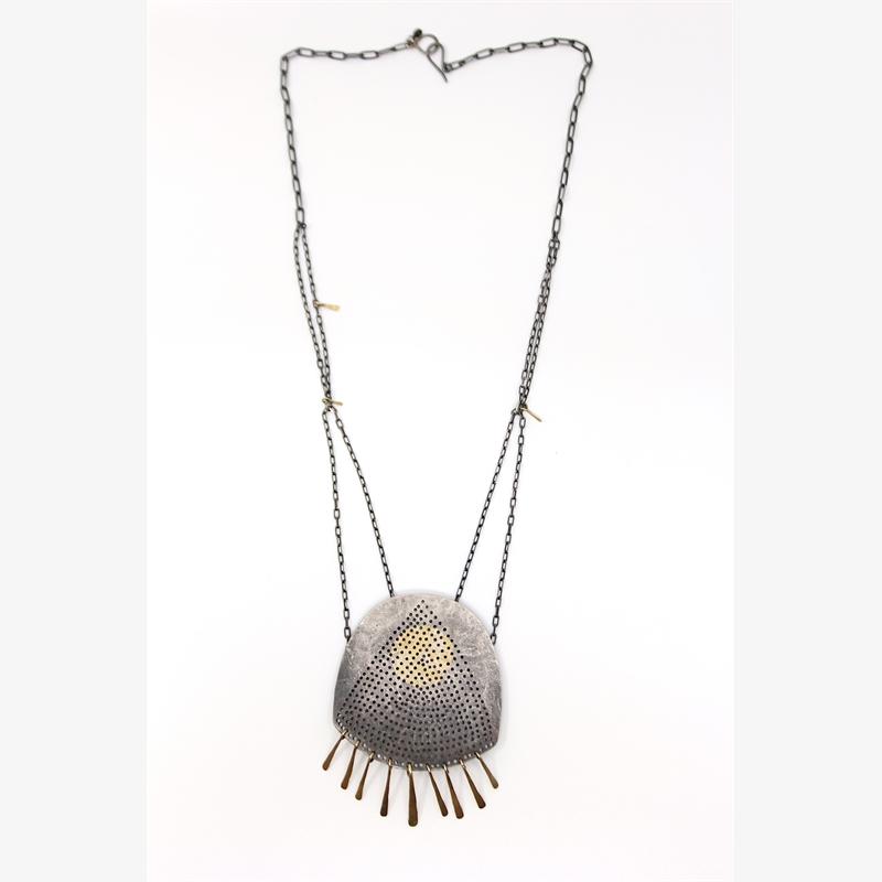 Gibbous Fringe Necklace, 2019