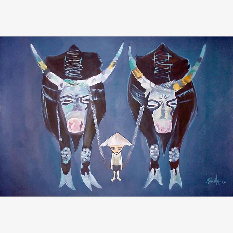 Boy and Buffaloes, 2003