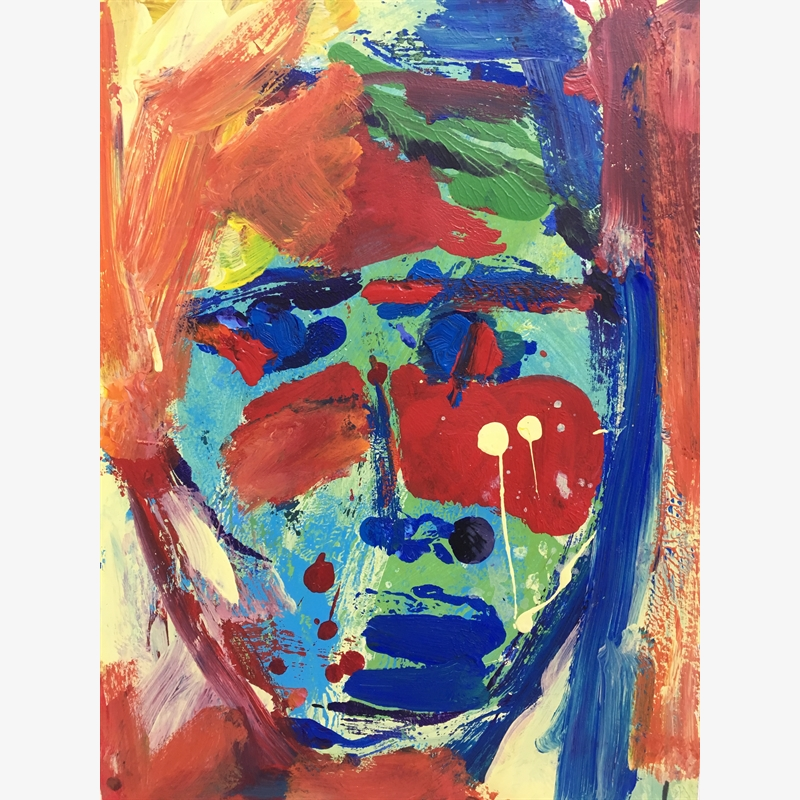 Colorful Paper Faces, 2018