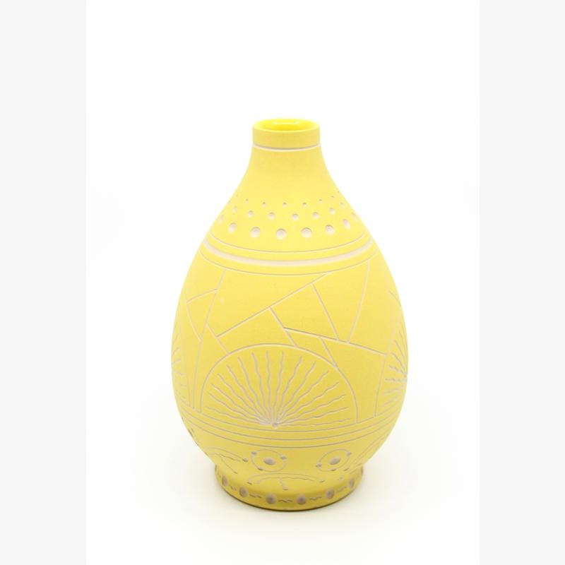 Yellow Teardrop Vase, 2019