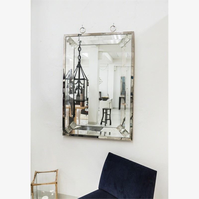 Mirror with rock crystal studs, 2014