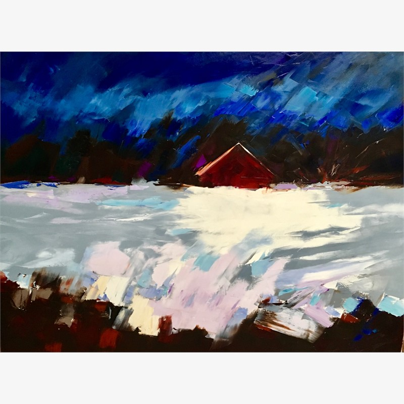 Blue Sky, Red Barn