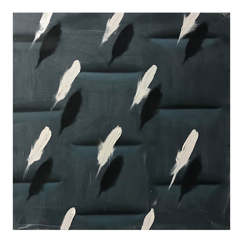Feathers on Grey Relief by Dan Pelonis