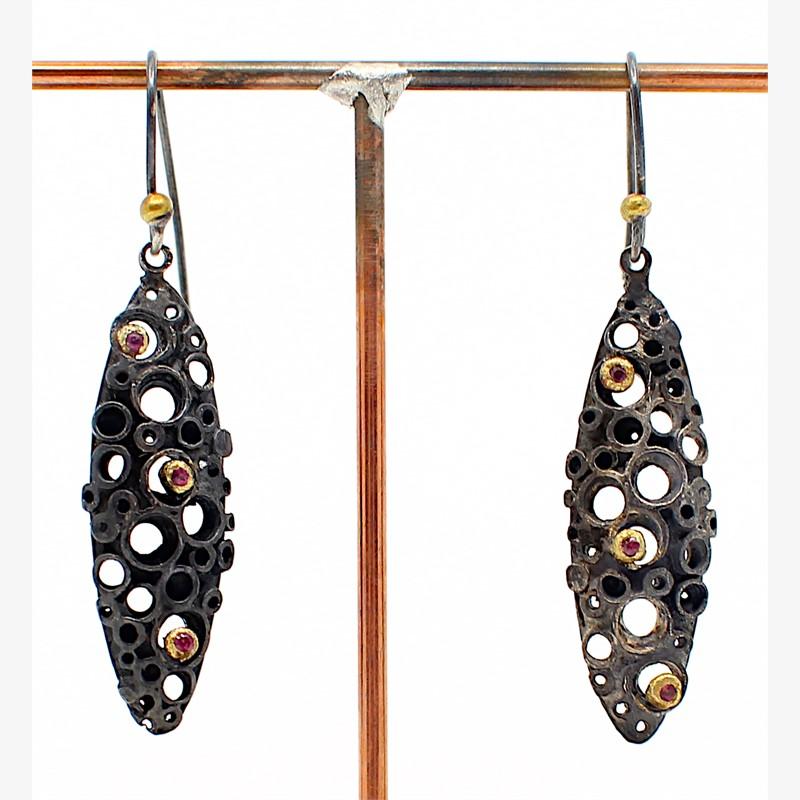 Open Hive Earrings, 2019