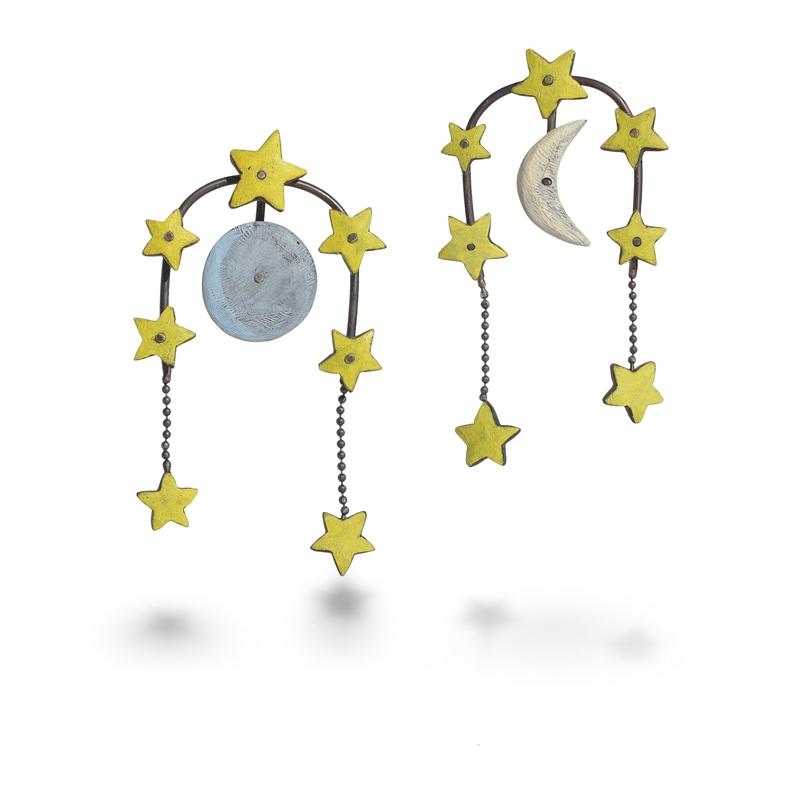 Lunar Phases Earrings, 2019