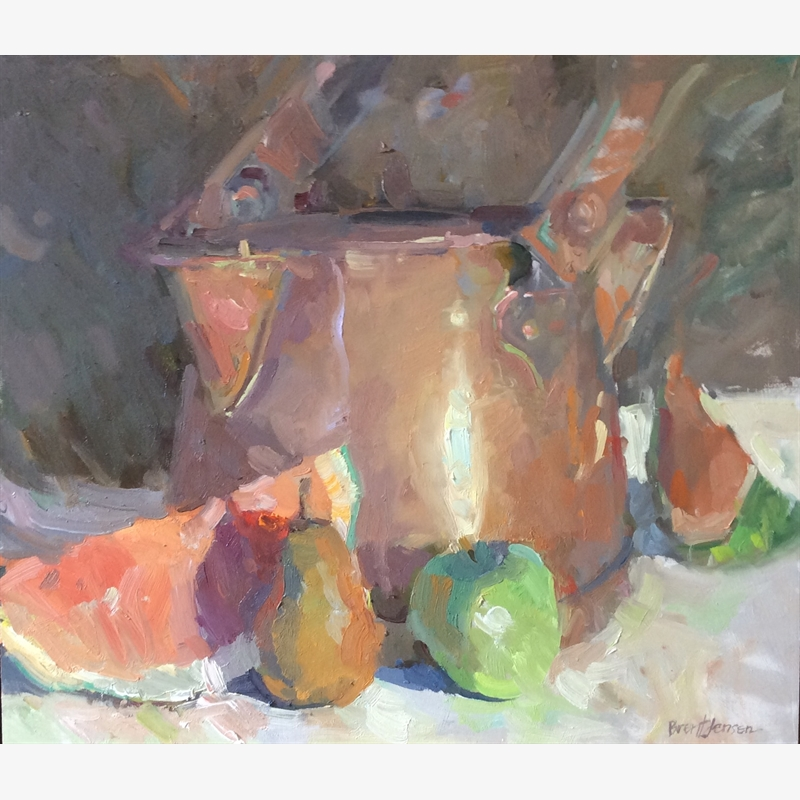 Copper Pot With Fruit