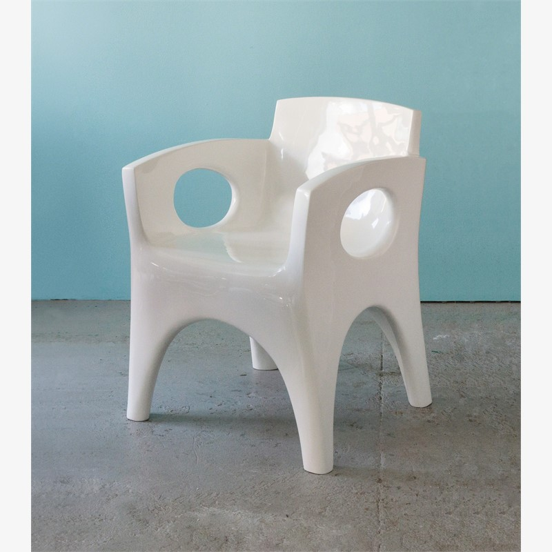 """Toro"" Armchair in white by Jacques Jarrige"