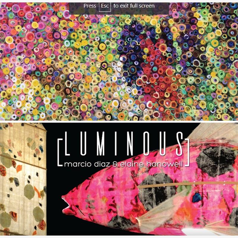 Luminous: Marcio Diaz and Elaine Hanowell   exhibition catalog, 2017