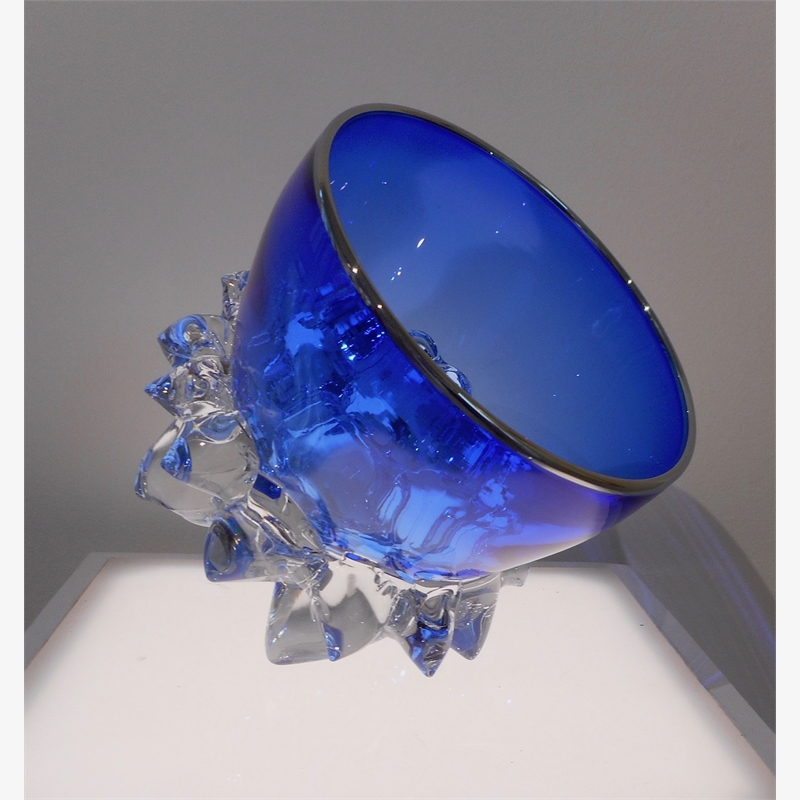 Small Thorn Vessel XV (Cobalt/Silver), 2019