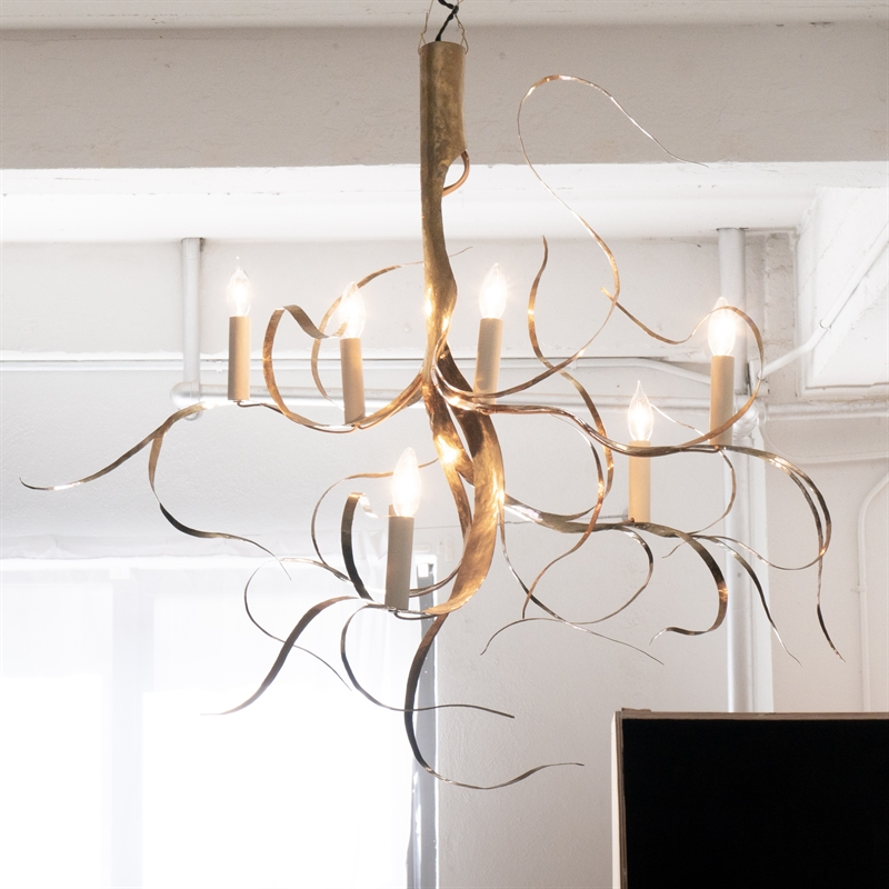 """Fiori"" chandelier 7 lights by Jacques Jarrige"