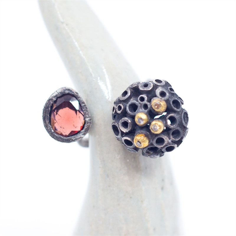 Open Bejeweled Hive Ring, 2019