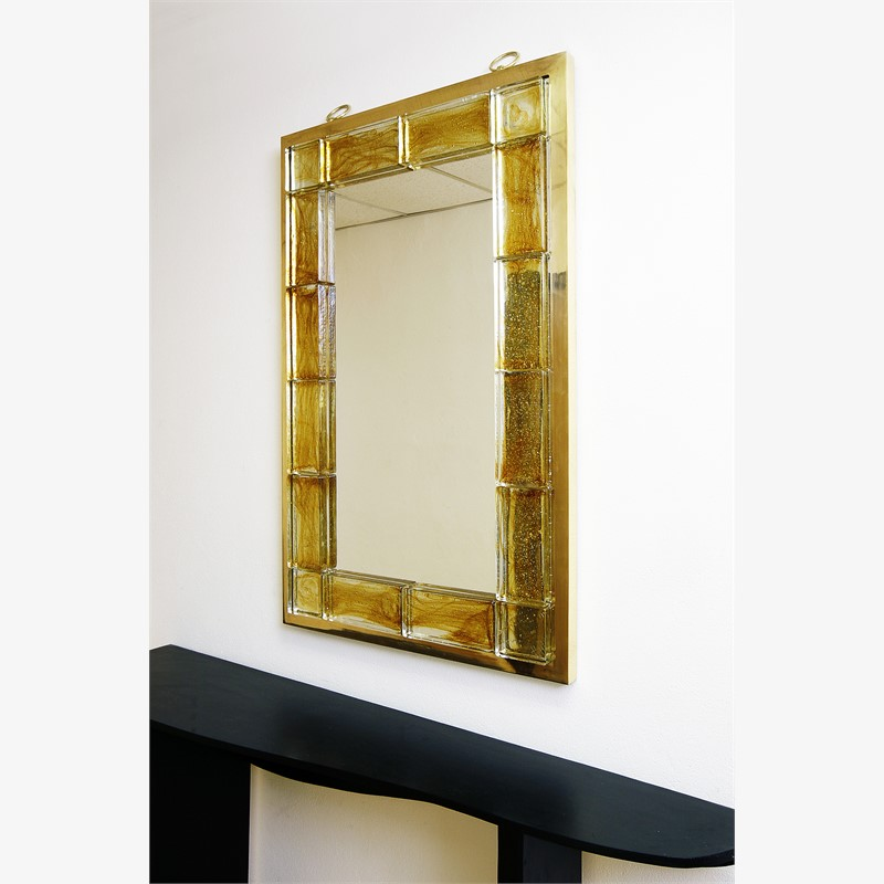 Glass tiled mirror by Andre Hayat