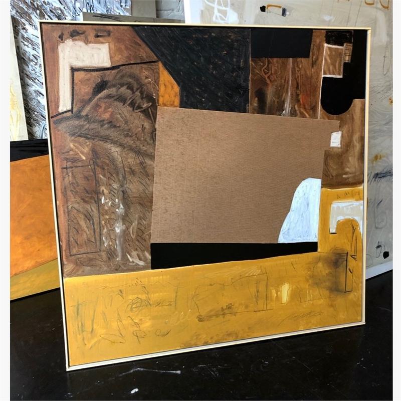 Abstract Mixed Media Painting, 2020
