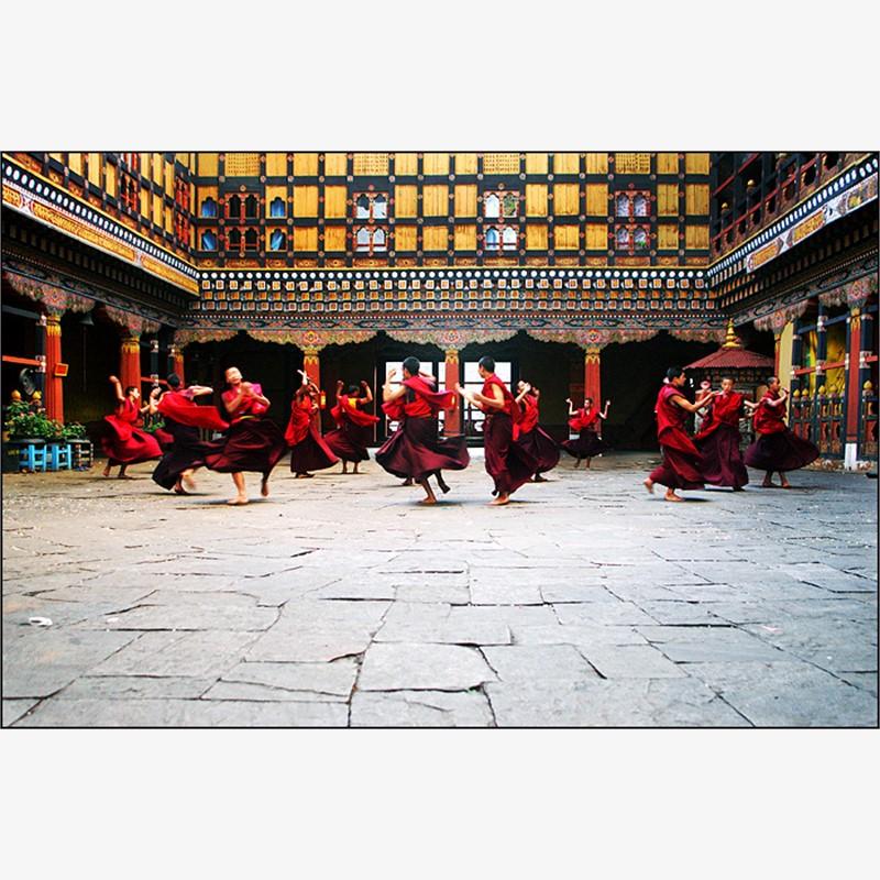 Tsechu Festival Dance Practice, 2007