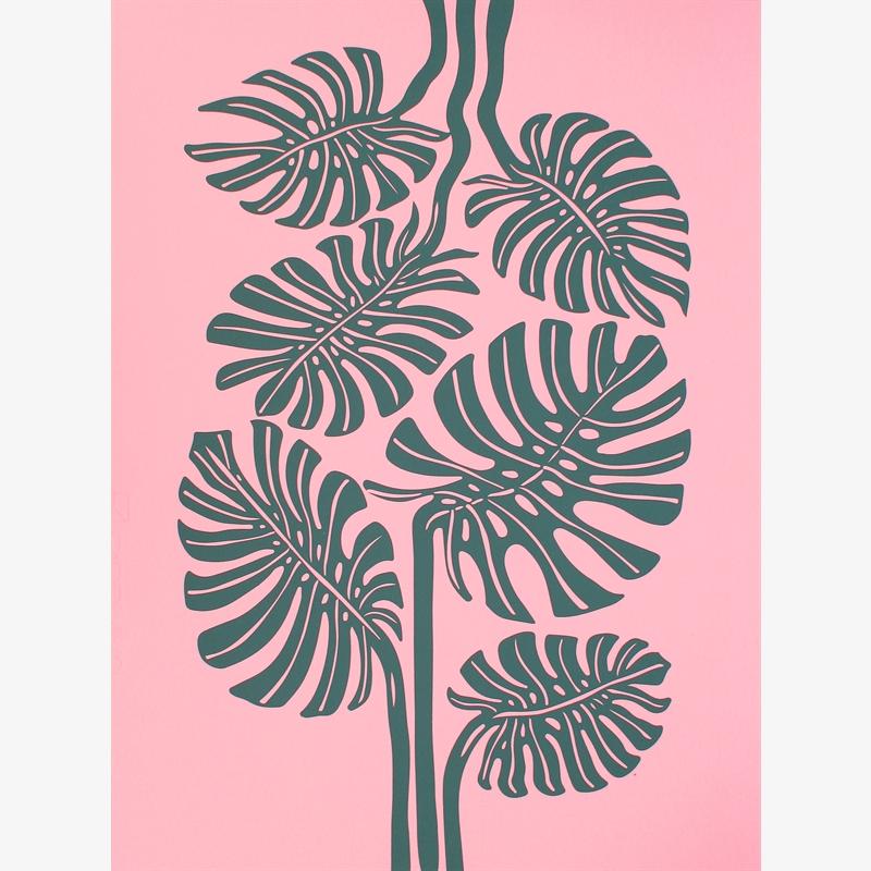 Monstera (Pink/Green) (8/30), 2020