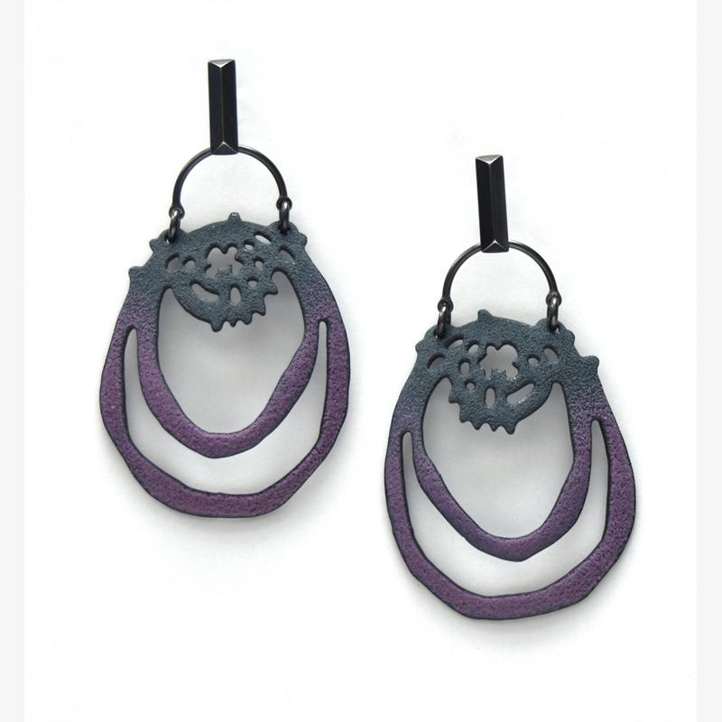 Long Cell Earrings, 2019