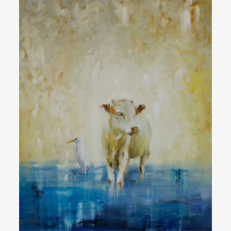 Cow and Egret