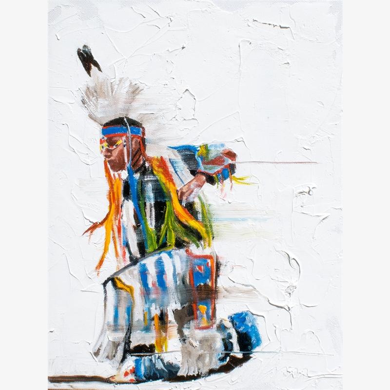 Vanishing Series:  Crow Fair Movement in Blue, 2019