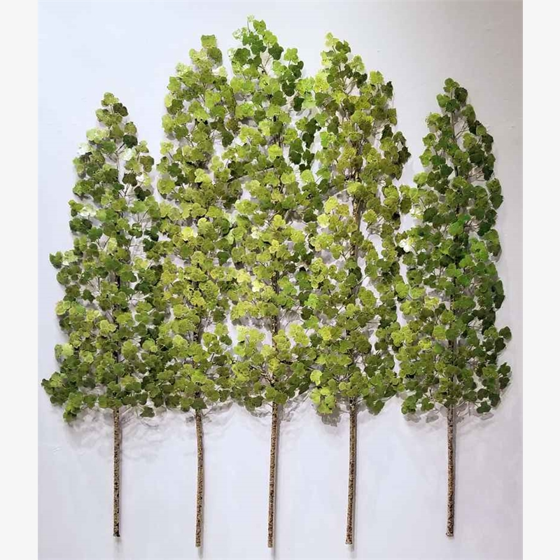 Aspen Grove - 3PC - 5 Stem - Translucent Green (Edition Of 3)
