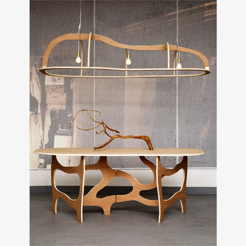 """Meanders"" Console Table and Light , 2012"