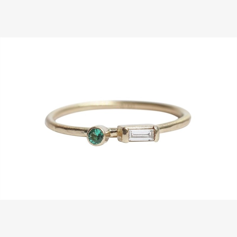 Castrée Ring - Diamond/Emerald, 2019