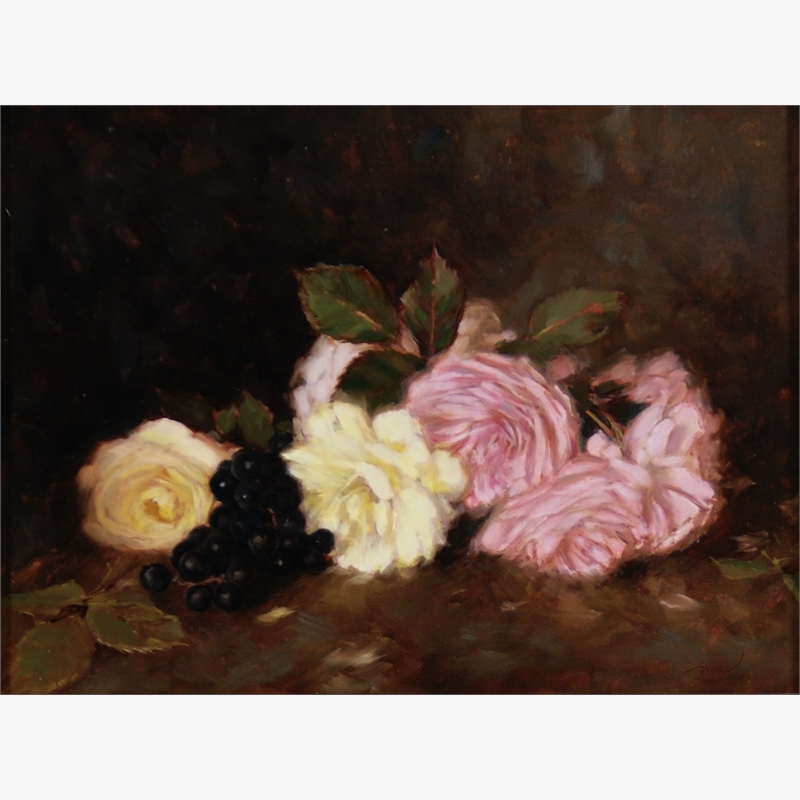 Roses with Grapes