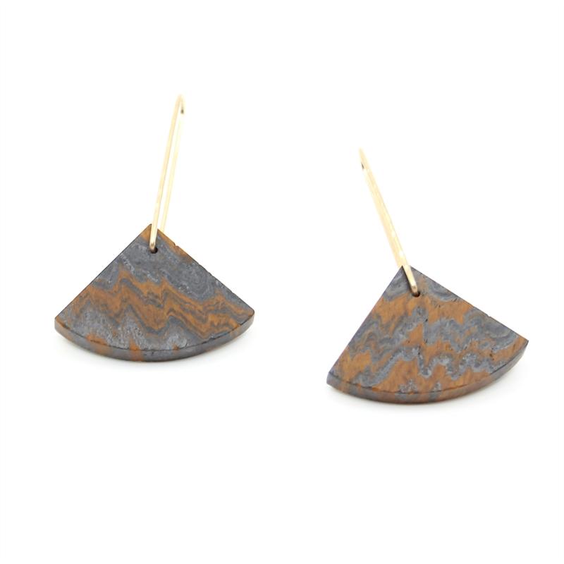 Banded Iron Earrings, 2019