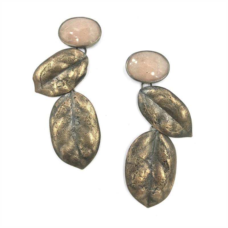 Moonstone Ilex Earrings, 2019