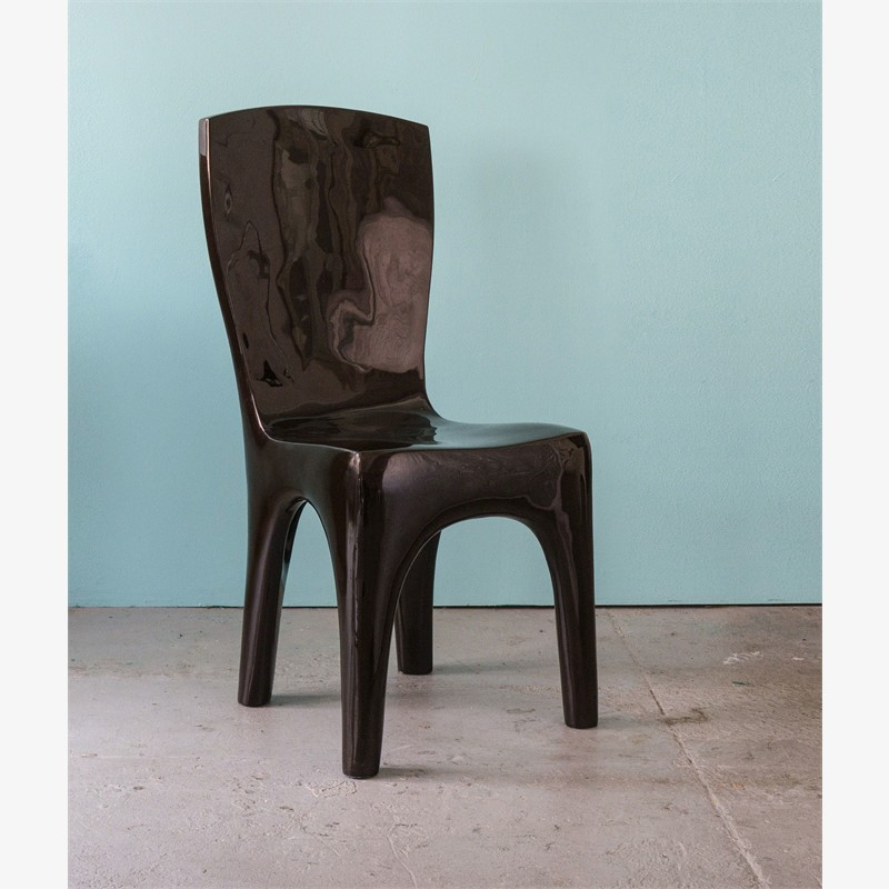 """Toro""  Black chair  by Jacques Jarrige"