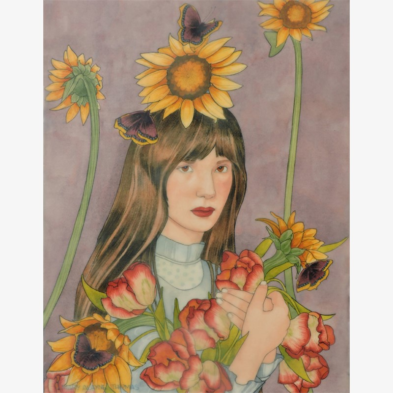 Sunflowers and Mourning Cloaks