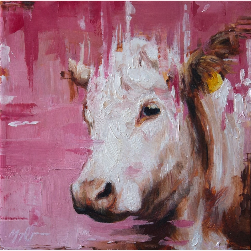 Pink Cow Portrait, 2019