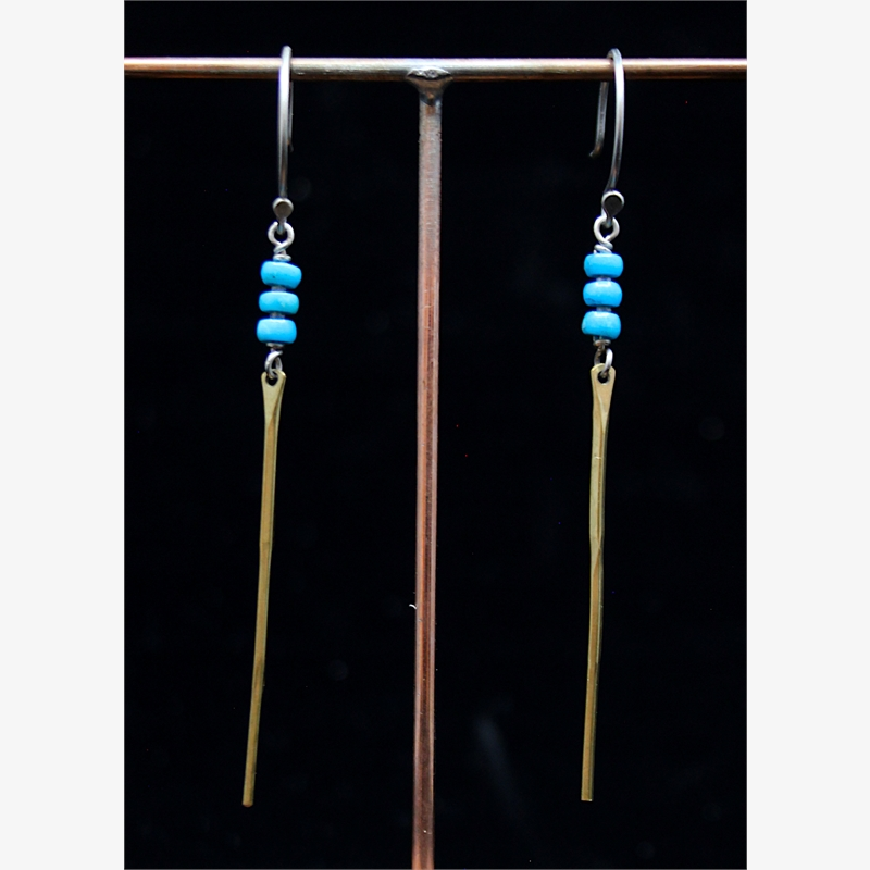 Turquoise Spine Earrings