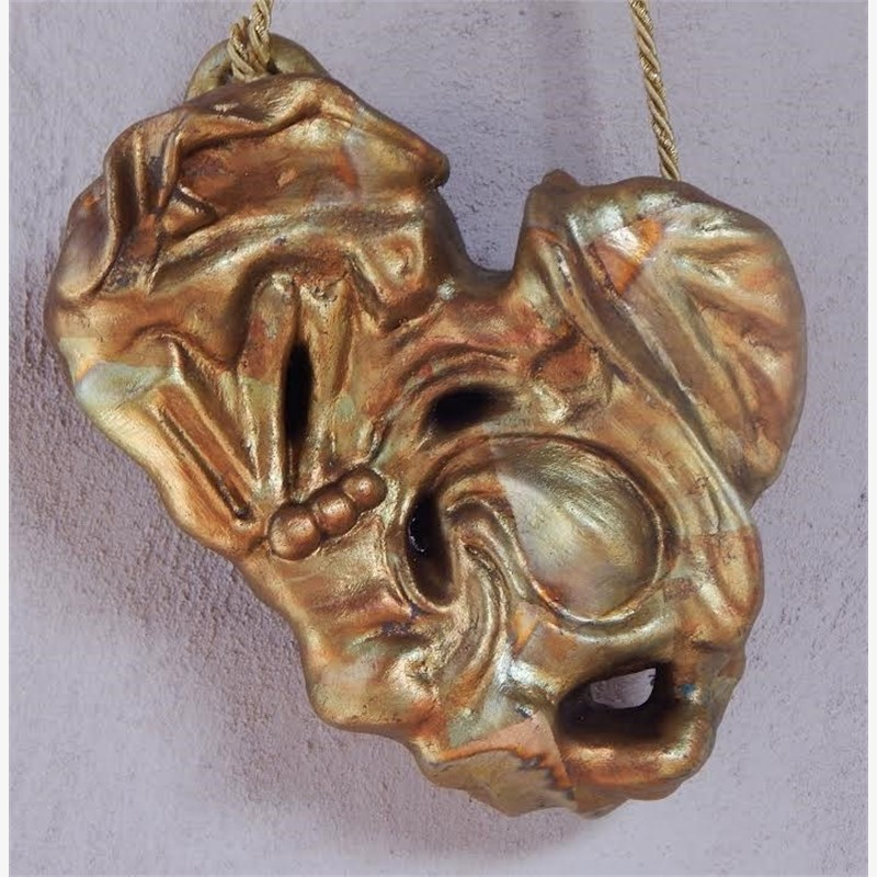 Antique Gold Hanging Heart 7""