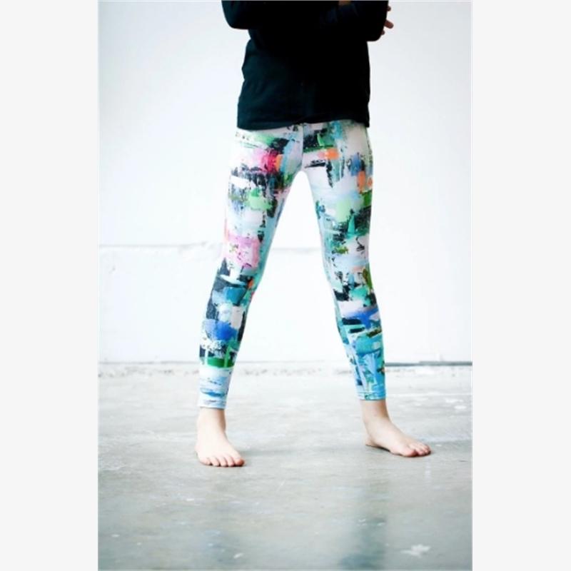 Girls Aqua Geometric Pants (4-5) (Inventory 3) , 2019