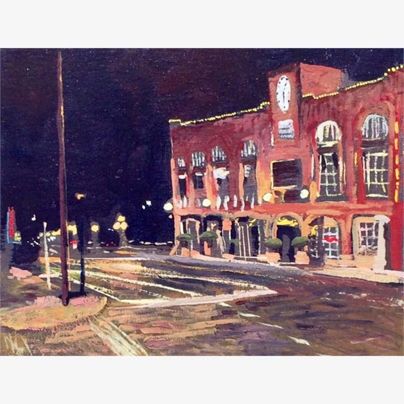 A Street Corner at Night