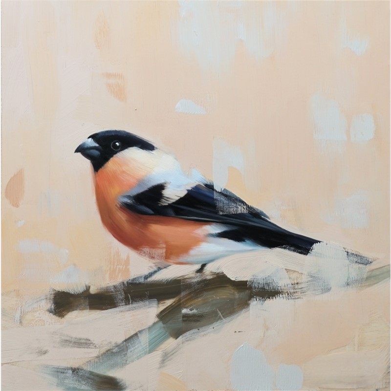 Studio Note with Bull Finch