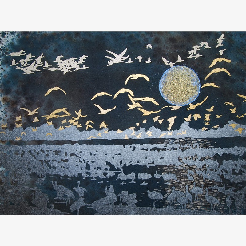 Rising Blue Moon - SOLD, 2015