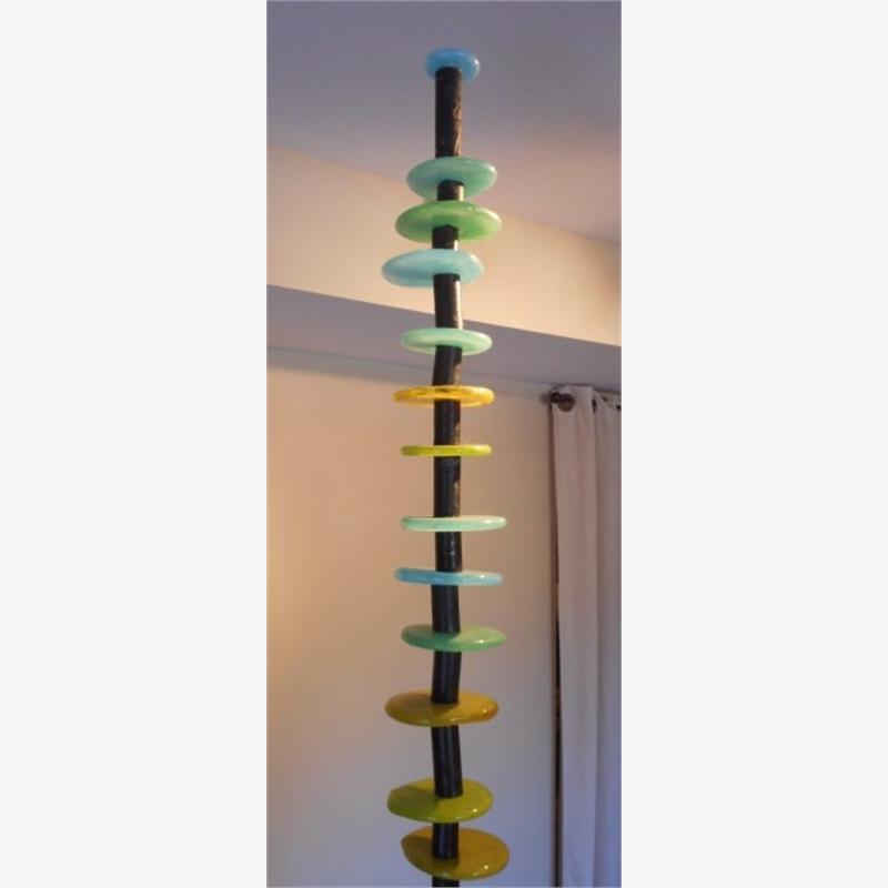 Disc Column (Blue/Green)